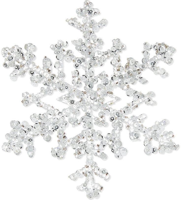 GISELA GRAHAM - Sequin-detail snowflake decoration | Selfridges.com