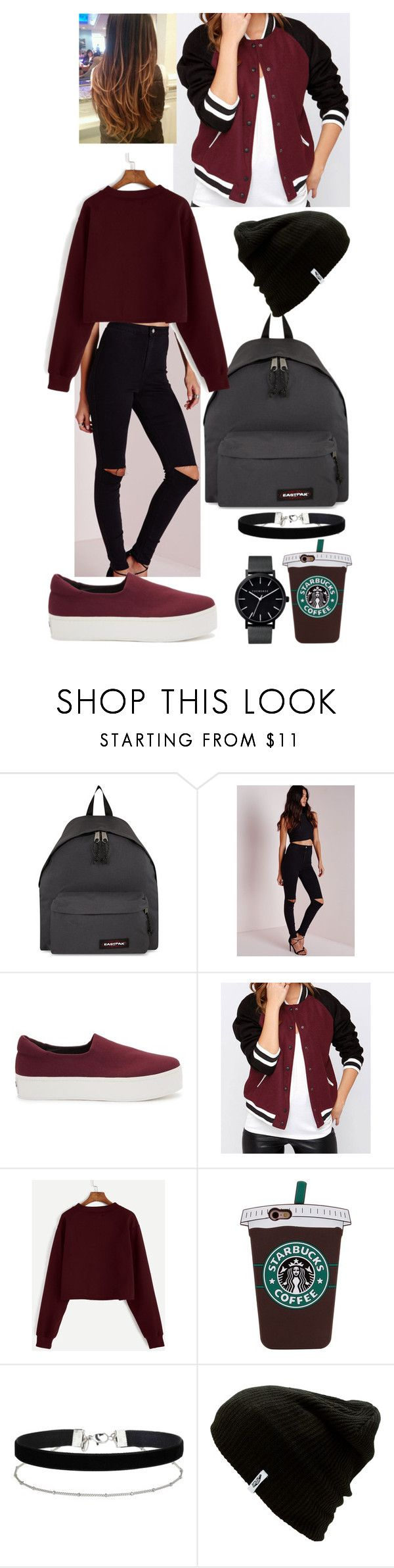 """""""School"""" by filipa-oliveira-lipa ❤ liked on Polyvore featuring Eastpak, Missguided, Opening Ceremony, Miss Selfridge, Vans and The Horse"""
