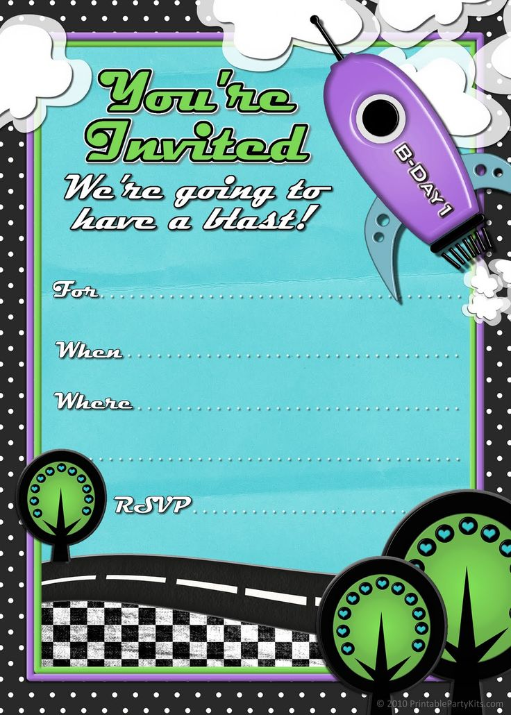 17 Best images about Invitations – Free Printable Party Invitations for Kids Birthday Parties