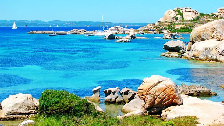 Transparent water, Arcipelago di La Maddalena National Park,  coast of Sardinia,  Italy