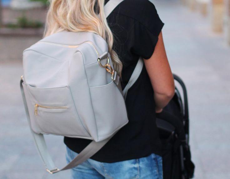 Kiki Lu Diaper Bag in Gray. Love these UF