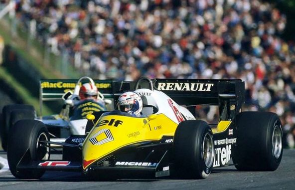 Formula 1,Alain Prost ~ Renault RE40 ~ 1983 European GP, Brands Hatch