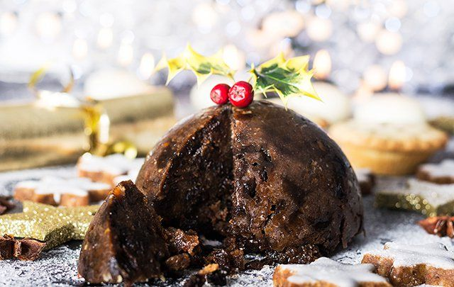 Christmas pudding is a special holiday treat.