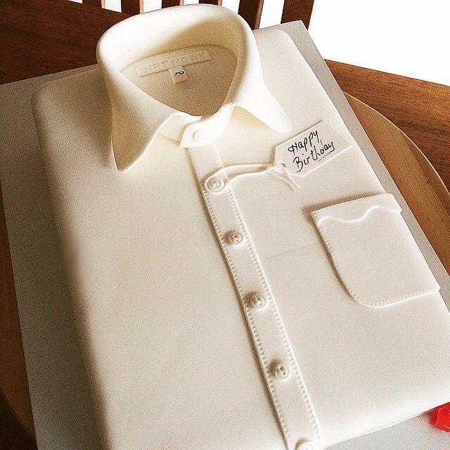 Shirt cake. White shirt.