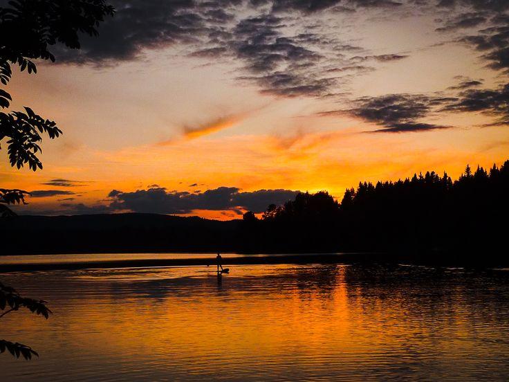 Underbar sommarkväll i Frönäsets egen vik sommar 2014