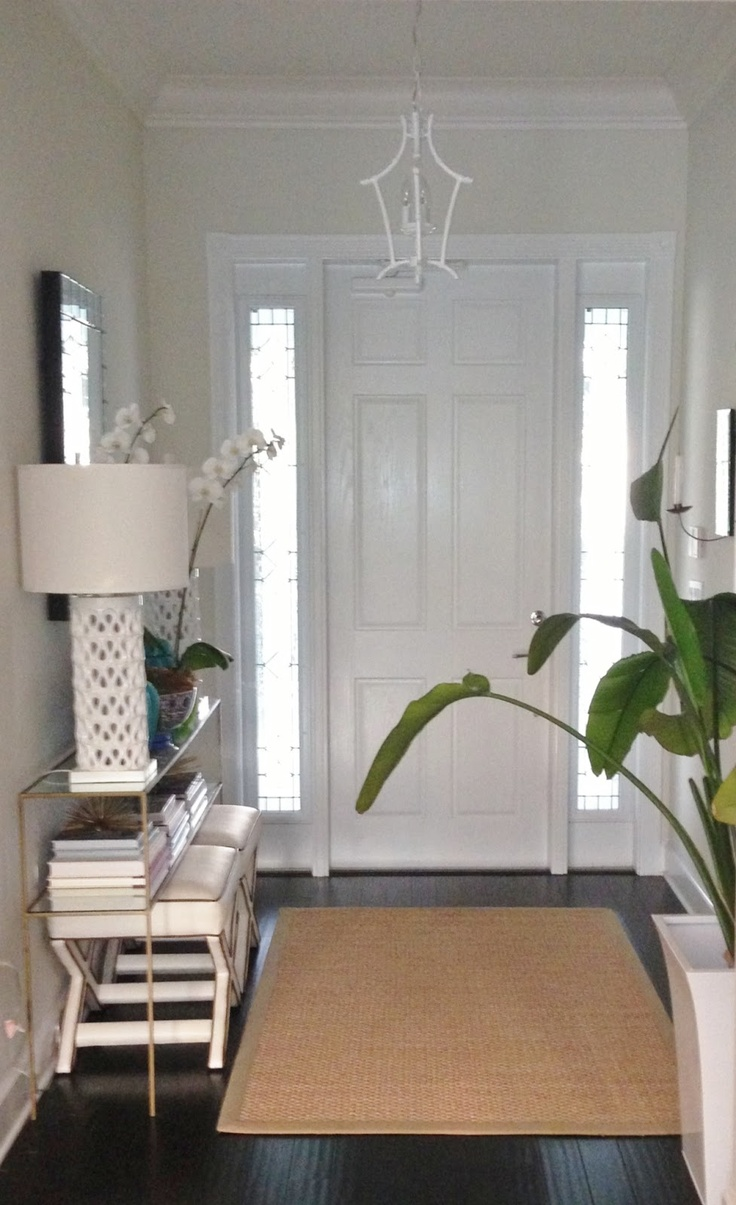 Navy greek key rug transitional entrance foyer libby langdon - Find This Pin And More On Entry Stairs Foyer By Shawmorris