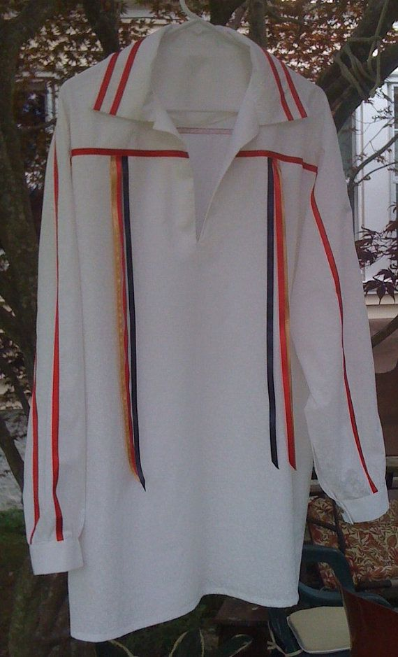 American Indian Ribbon Shirt. I need this in white with burgundy ribbons for Darren and Burgundy with white ribbons for the other men in the wedding party.