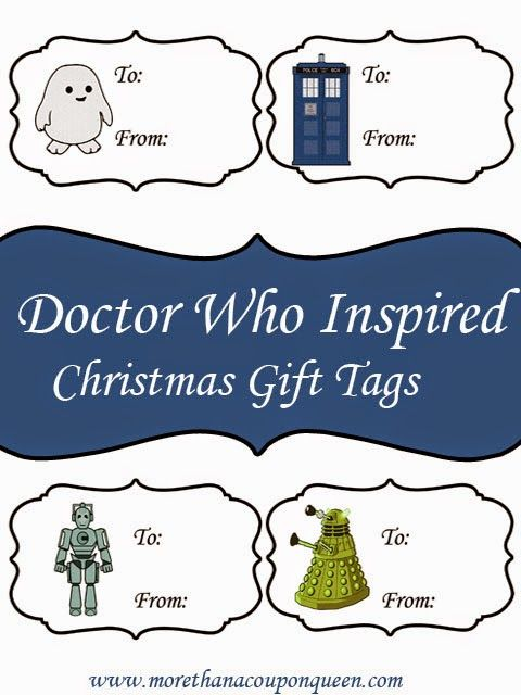 Free Doctor Who Inspired Gift Tags - Perfect for Christmas presents. I can't think of anything cuter than an adipose on a Christmas gift. =)