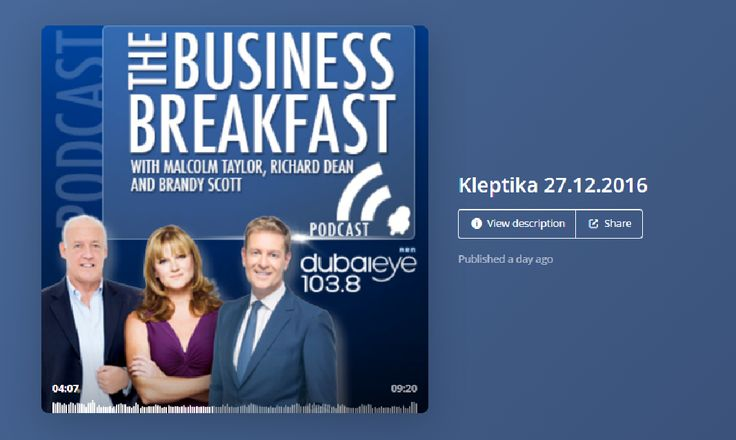 Kleptika live on Business Breakfast - Dubai Eye Radio