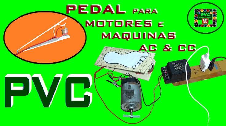 Pedal liga desliga para motores e máquinas AC e CC, 100% caseiro