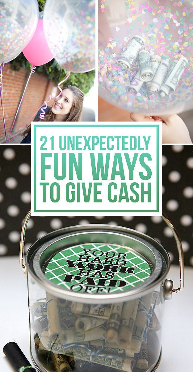 Wedding Gift Giving Money : fun ways to give cash as a gift cash gifts gift money money ...