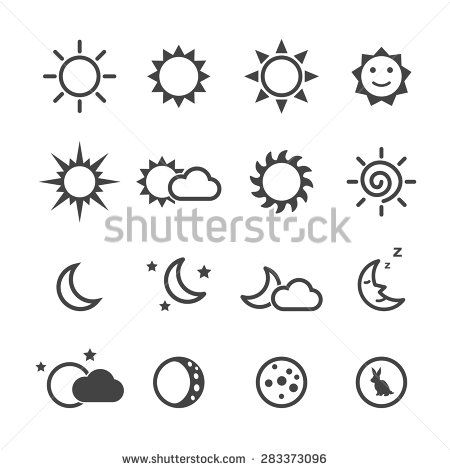 Day And Night Icon Stock Vectors & Vector Clip Art   Shutterstock