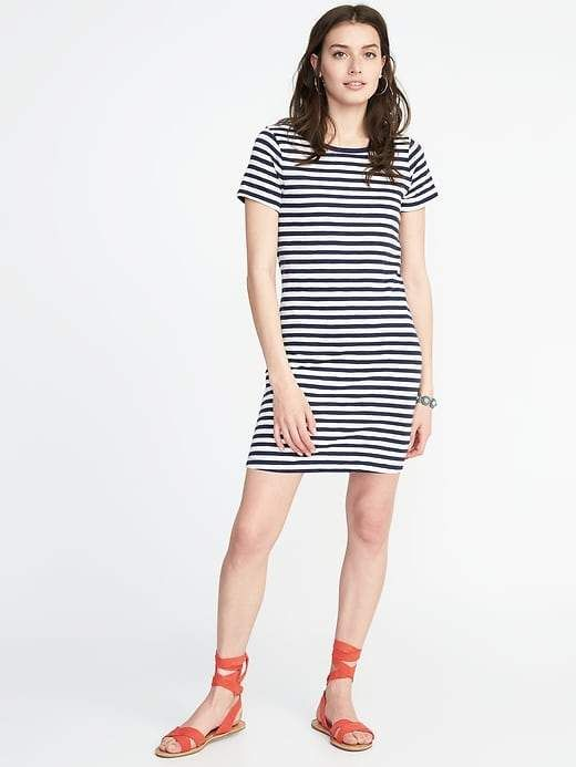 2f4f6bfc209e Old Navy Slub-Knit Tee Dress for Women in 2019   Products   Tee ...