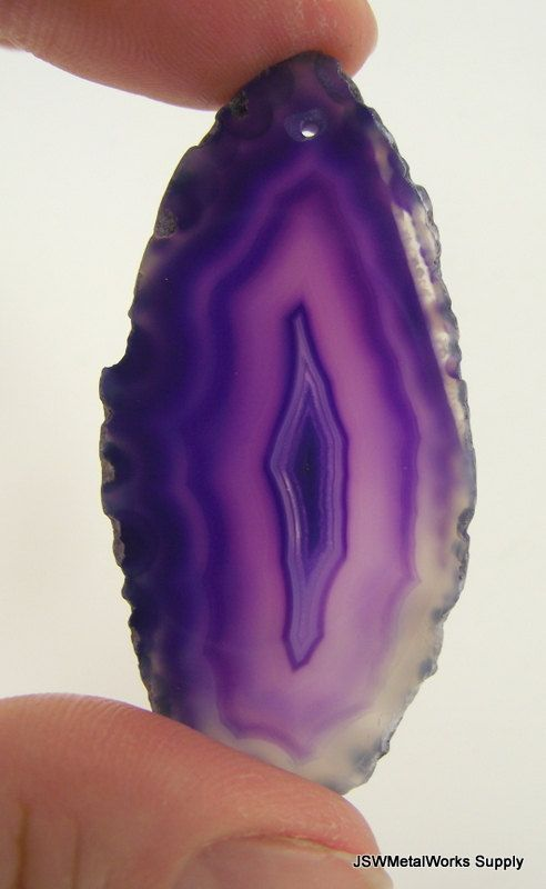 Purple Agate Slice by JSWMetalWorksSupplyDesign Inspiration, Jswmetalwork Supplies, Purple Agates, Agates Slices, Supplies Etsy, Gemstones Finish, Etsy Shops