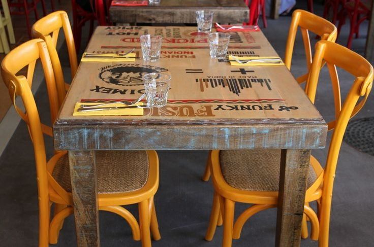 You can actually request a particular table when you make a booking ... they're ALL different!! :)