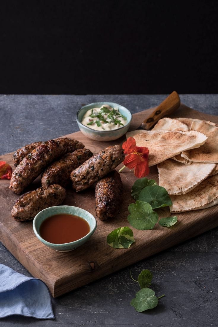 Graham Campbell's lamb kofta recipe is served with a tangy chippy sauce for dipping, made of ketchup, vinegar and brown sauce.