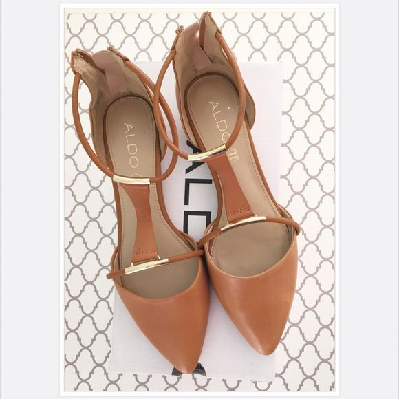 Aldo Flats Cute Aldo flats. Only worn twice! Size: 8.5 Color: Cognac ALDO Shoes Flats & Loafers