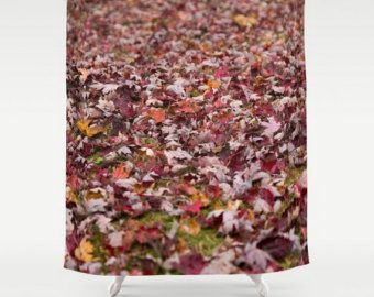 Fall Shower Curtain, Autumn Shower Curtain, Autumn Leaves, Fall Leaves, Autumn Bathroom, Fall Bathroom, Autumn Bath Decor, Fall Bath Decor by mayaredphotography. Explore more products on http://mayaredphotography.etsy.com