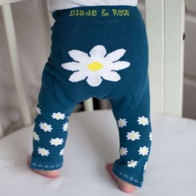 Baby Girl Daisy Leggings in Blue | Blade and Rose | Sprogs Inc