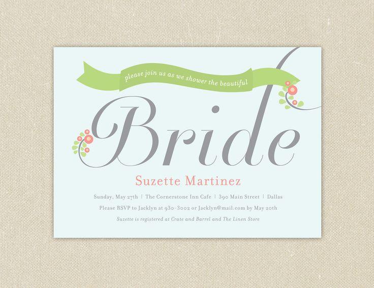 26 best email design images on pinterest email for Bridal shower email invitations