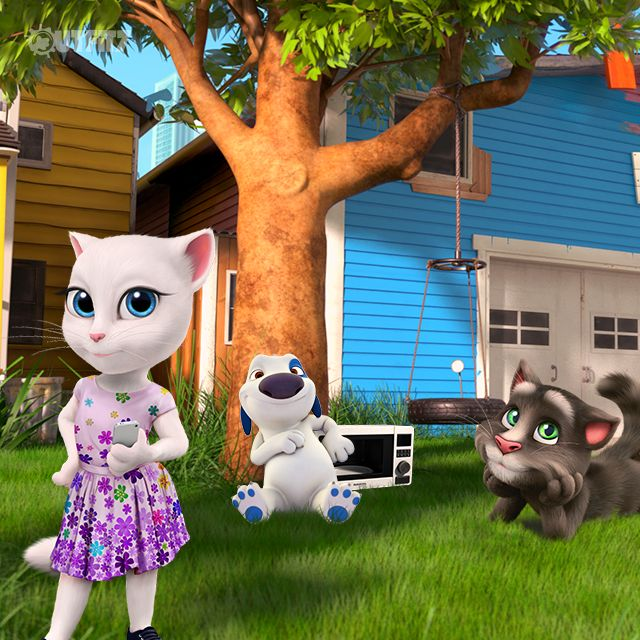 I NEED to take photos for Instagram before we eat, right?! xo, Talking Angela #TalkingAngela #MyTalkingAngela #LittleKitties #picnic #friends #happy #sunny #BFF #TalkingTom #Instagram