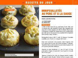 """J'ai vu ceci dans """"Minifeuilletés auporc et à la sauge"""" dans Vos Nouvelles Saguenay Lac-St-Jean 7 octobre 2015."""