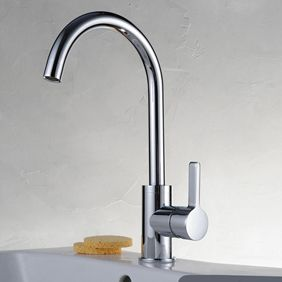 Chrome Finish Solid Brass Kitchen Faucet T0717