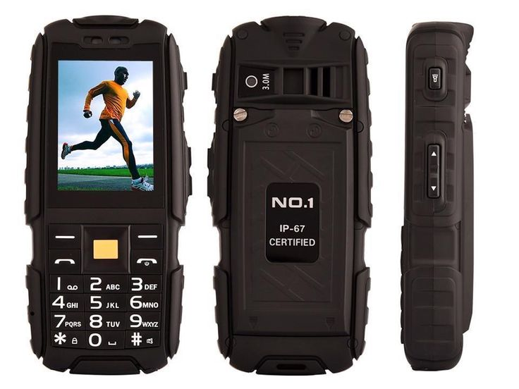 NO.1 Original A9 IP67 Waterproof Dual SIM Card Cell Phone 4800mAh 2.4'' Radio FM #DTNOI