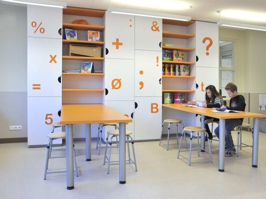 Ontwerp kasten leerplein onderwijs inrichting for Kantoor interieur ideeen