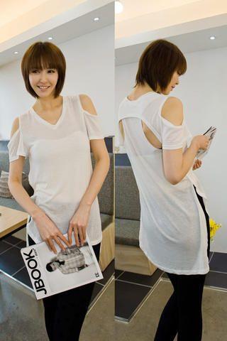 shoulder open uneven tee from Kakuu Basic. Saved to Kakuu Basic Dresses & OPs. Shop more products from Kakuu Basic on Wanelo.