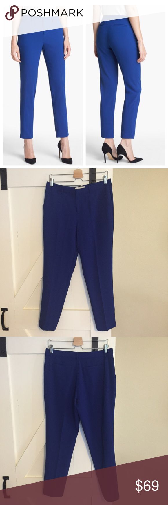 """Joie Sitara Cigarette cropped cobalt pants Joie Sitara cigarette pants in cobalt blue. Cropped ankle length fit with 26"""" inseam. 100% polyester. Front slant pockets and back pockets. Size 8, in like new condition, excellent with no flaws. Joie Pants Ankle & Cropped"""