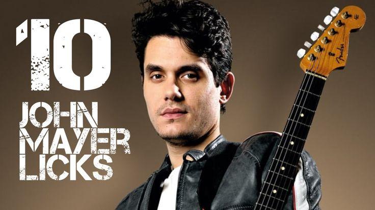 10 John Mayer Licks in G Major - John Mayer Guitar Licks Lesson with Tabs | John mayer guitar. John mayer. Guitar