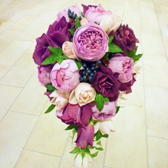 Cota flower:【甘い香りが漂う大人可愛いパープルカラーのオーバルブーケ】\25,200(税込)