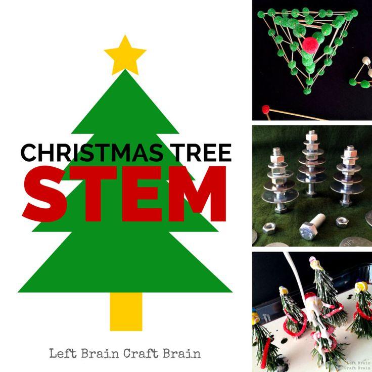 Christmas Tree STEM Left Brain Craft Brain #Love2Learn