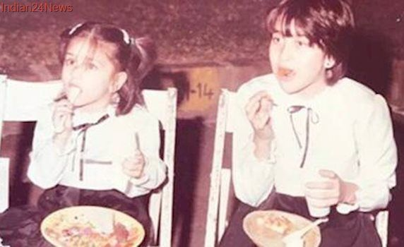Kareena Kapoor Khan, Karisma Kapoor as little girls is the best photo you'll see today. See pic