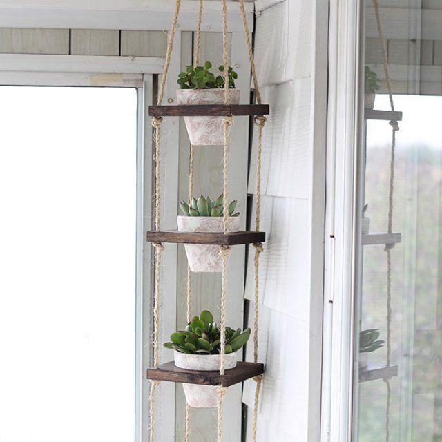 20 id es pour suspendre ses plantes idee deco jardins for Plante a suspendre interieur