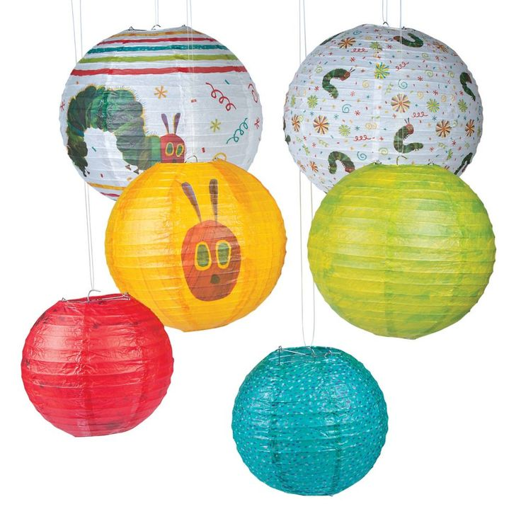 The Very Hungry Caterpillar(TM) Hanging Paper Lanterns