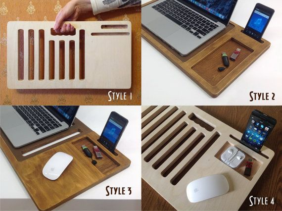 Laptop Stands Lap desk Portable desk laptop by artWoodworking