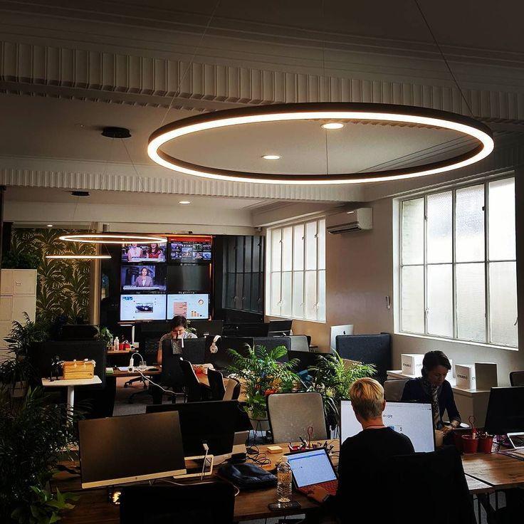 Nice to see the team @struberau enjoying our Halo pendants #lighting #design #interiordesign #interiors #fitout #office #commercial #officeinteriors #bespoke #cool #architecture #brisbane #create #style #lightingdesign