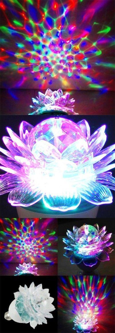 Here's something very different. This flower shaped LED ...