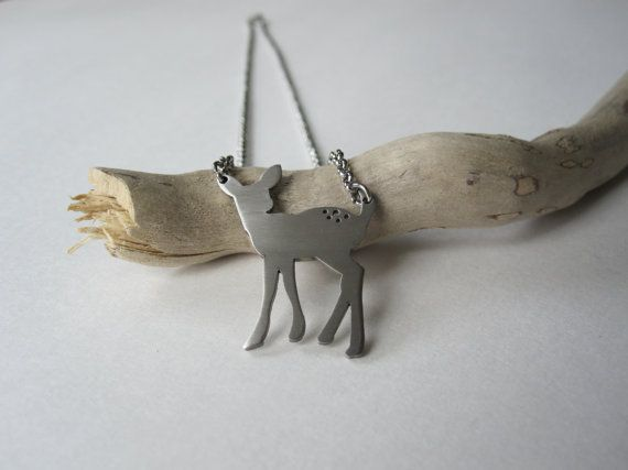 Fawn Necklace  stainless steel by Eighty8Eighty9 on Etsy