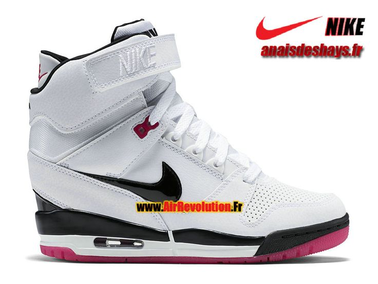 Boutique Officiel Nike Air Revolution Sky Hi GS Blanc/Rose framboise/Rose éclatant/Noir 599410-103