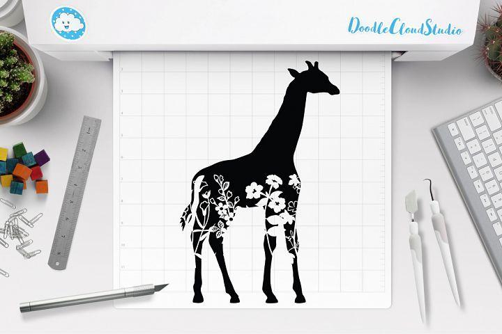 Floral Giraffe Svg Floral Giraffe Clipart Floral Animal In 2020 Clip Art Giraffe Svg