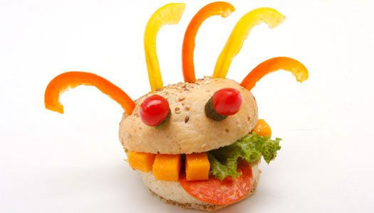 Once in awhile, it's OK to play with your food. Just for fun (or on a play date), make Silly Face Sandwiches!
