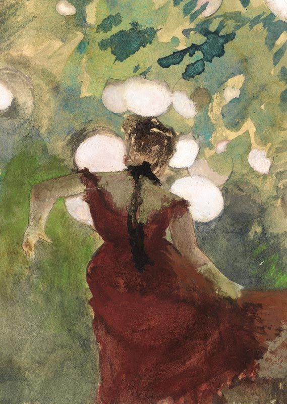 "amare-habeo: "" Edgar Degas (French, 1834-1917) Singer in the Paris Garden Café (detail), 1880 """