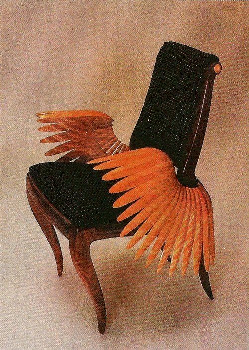 Cool beautiful weird style design furniture chair Wings icarus