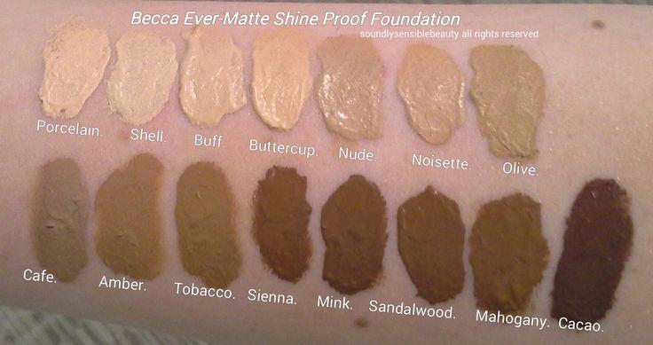 becca ever matte shine proof foundation mahogany - Google Search