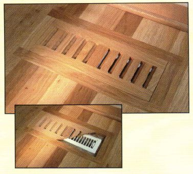Flush Mount Grill For The Floor Vent In The Breakfast Nook
