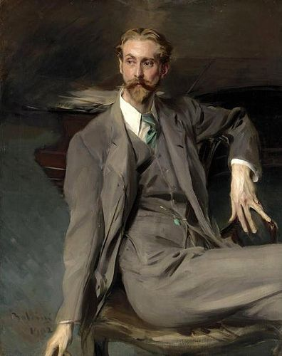 ♀ Painted Art Portraits ♀ Giovanni Boldini | Portrait of the Artist Lawrence Alexander Harrison, 1902