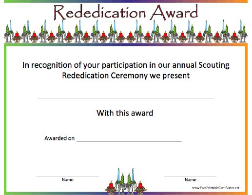 Commemorate the rededication of your participants to the ideals of the scouting…